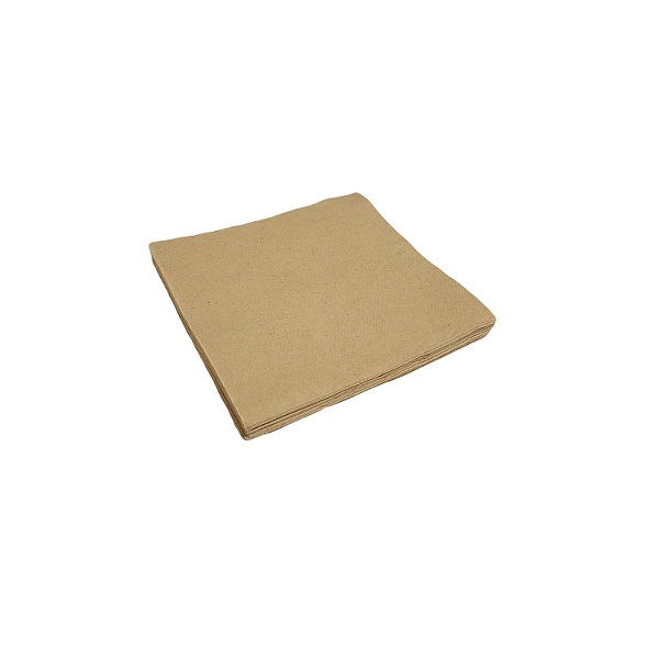 1ply quarter fold brown lunch napkin image
