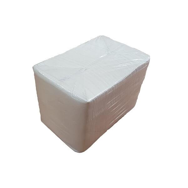 1ply quarter fold white lunch napkin image