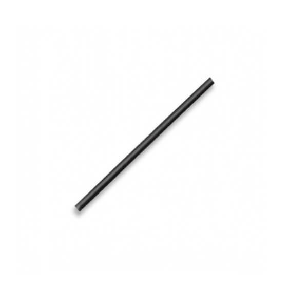 Black paper cocktail straws image