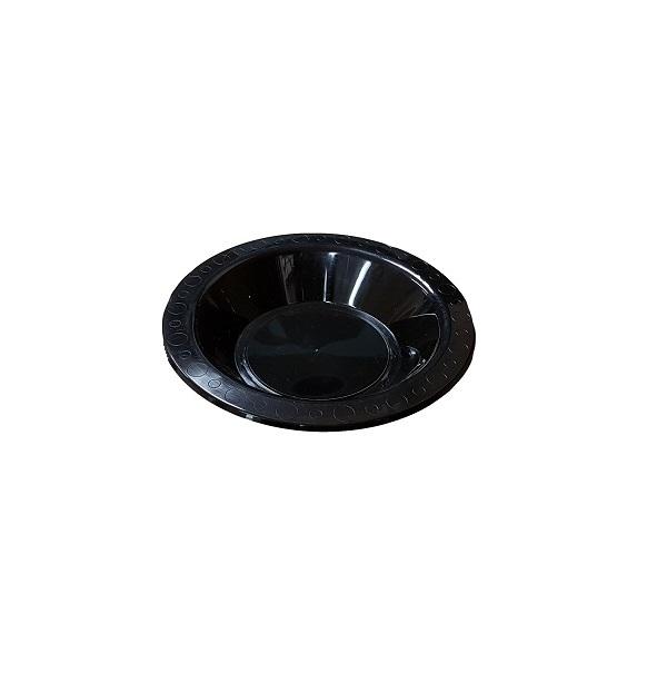 Black plastic bowl image