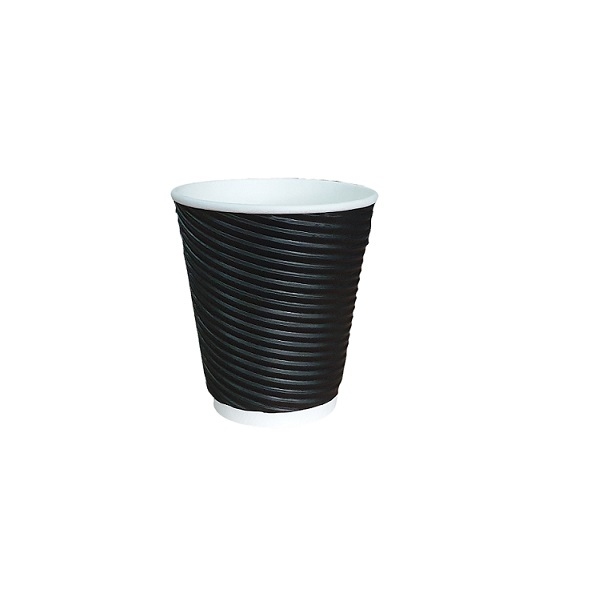 Black twist triple wall paper cup image