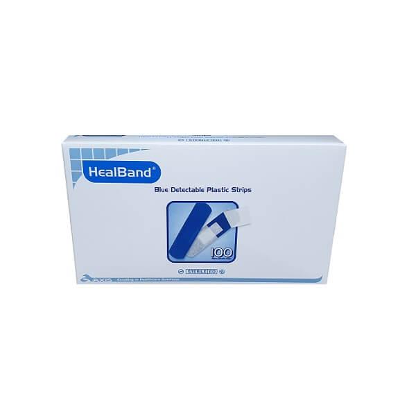 Blue bandaids, detectable plastic strips image