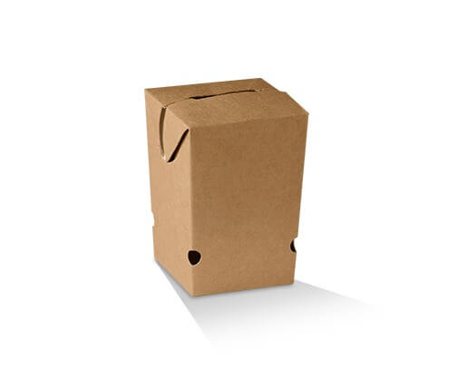 Brown cardboard chip carton image