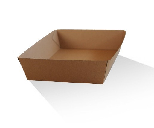 Brown corrugated plain board tray image