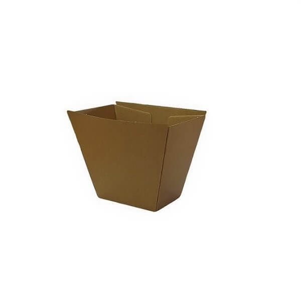 Brown corrugated plain chip cup image