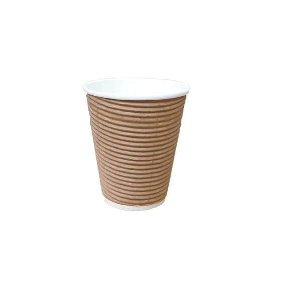 Brown twist triple wall paper cup image