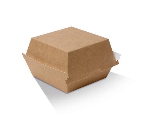 Burger box - kraft cardboard image