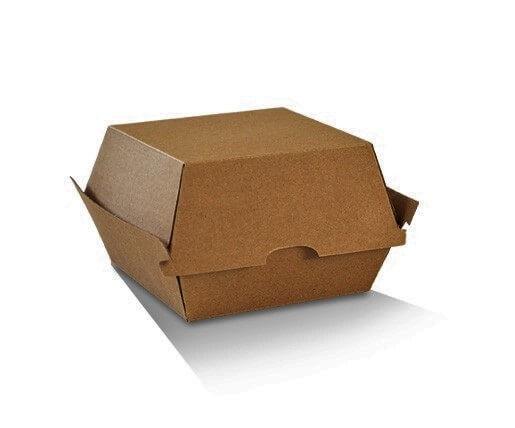 Burger Clam - Brown corrugated cardboard image