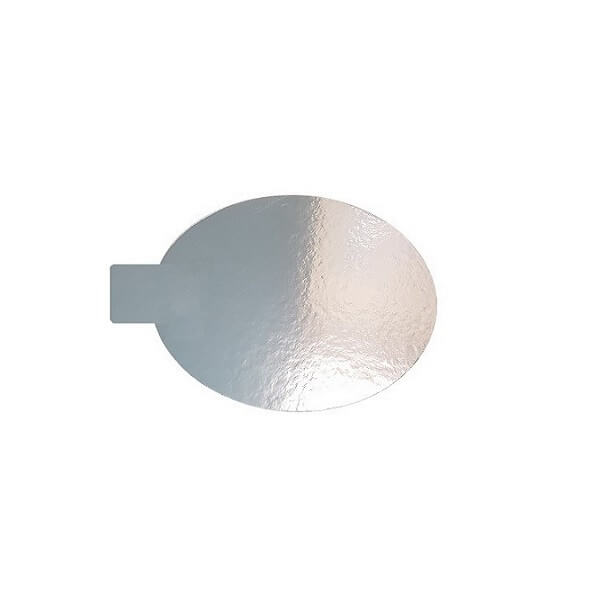 Cake board silver circle - with tab image