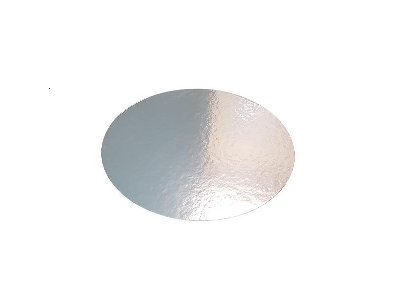 Cake board silver circle - standard image