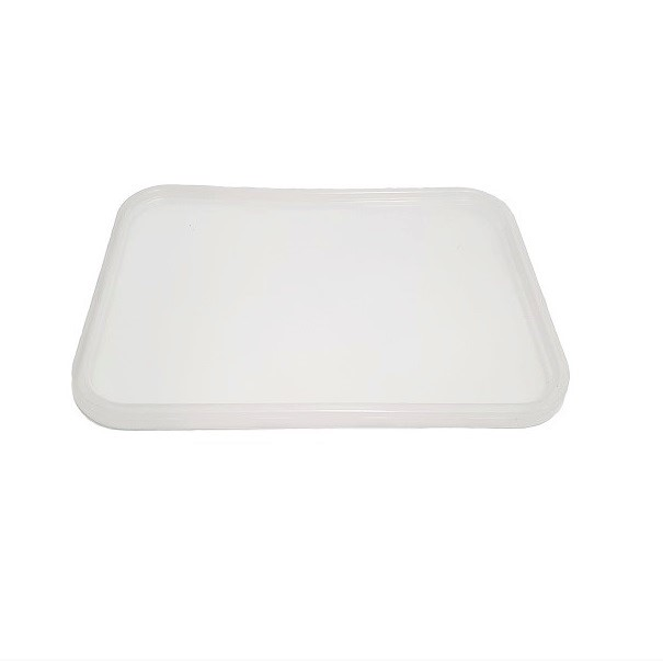 Clear plastic container lids image