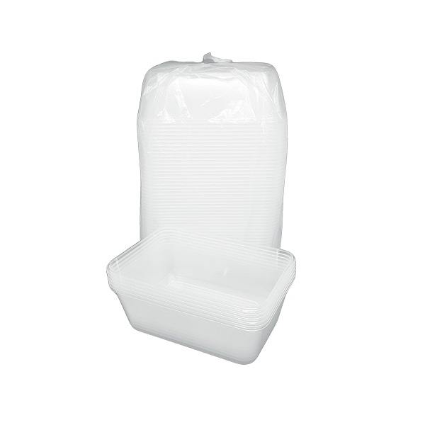 Clear plastic container image