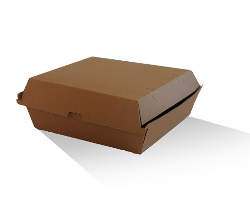 Dinner Box - Brown corrugated cardboard image