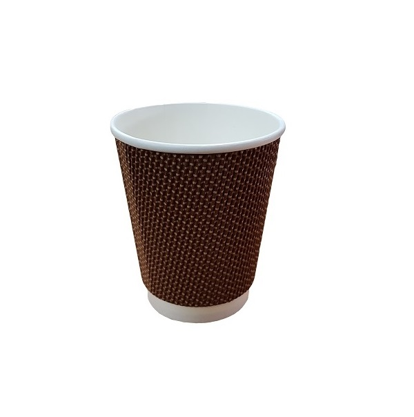 Triple wall ripple brown print paper cup image