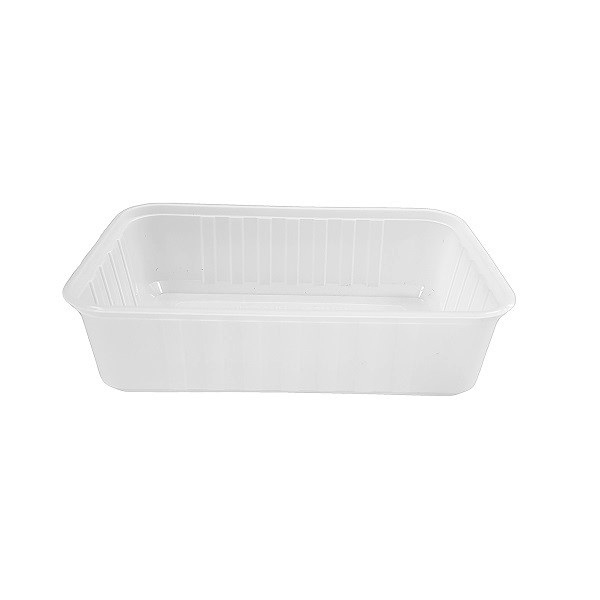 Ribbed plastic PP clear rectangle containers - Freezer grade image