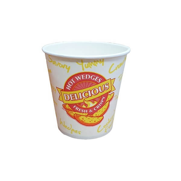 Fresh & crispy printed paper chip cup image