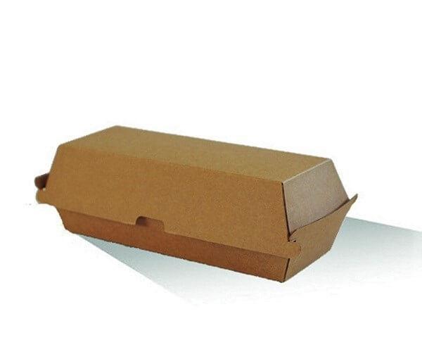 Hot Dog Box - Brown corrugated cardboard image