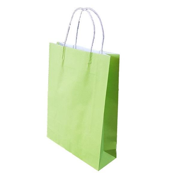 Lime Green Paper Bag Twist Handle image