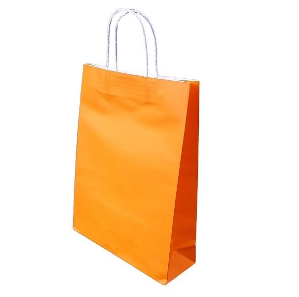 Orange Paper Bag Twist Handle image