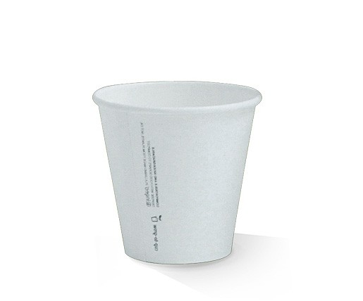 PLA Coated Single Wall White Paper Cup image