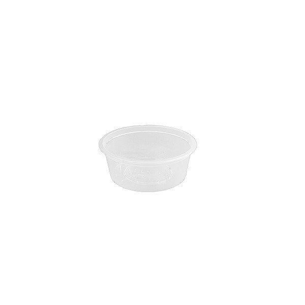 Plastic round PP clear container image