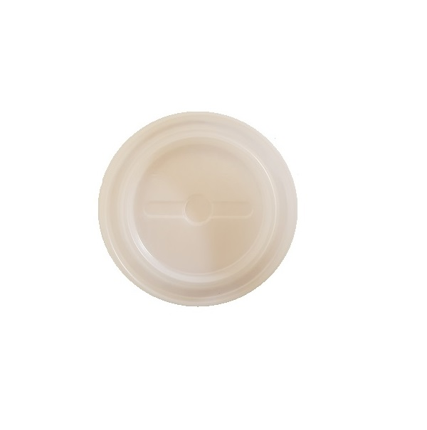 Plastic straw slot paper cup lid image