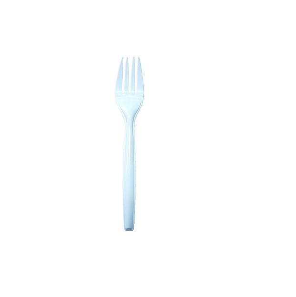 Plastic white fork image