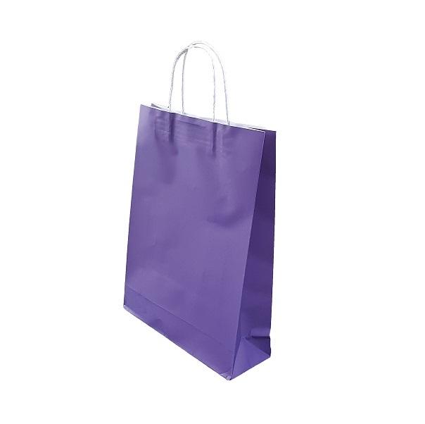 Purple Paper Bag Twist Handle image
