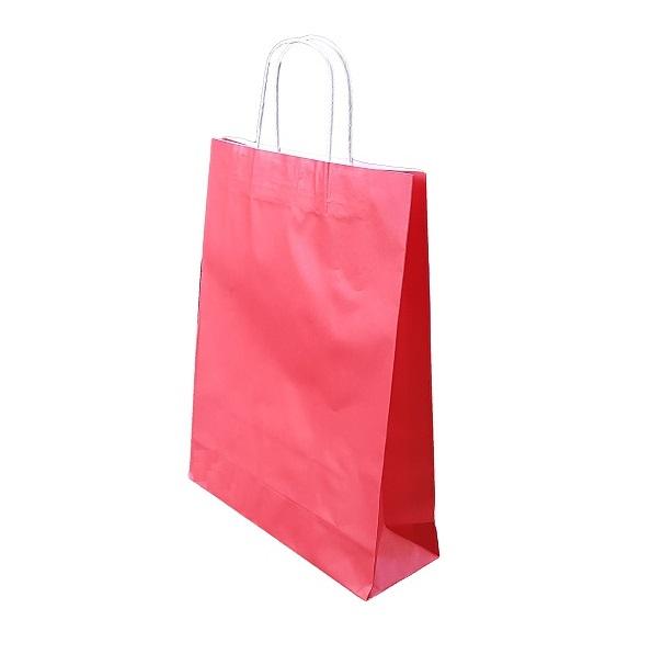Red Paper Bag Twist Handle image