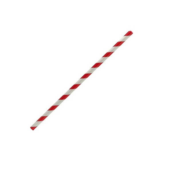Red stripe regular paper straws image