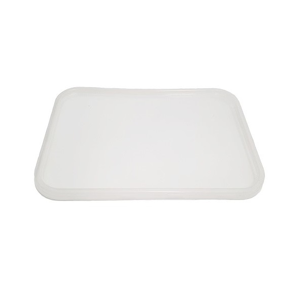 Ribbed plastic PP clear rectangle lids - Freezer grade image