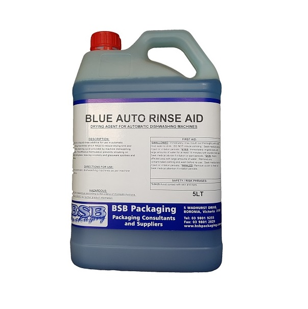 Rinse aid, auto blue image
