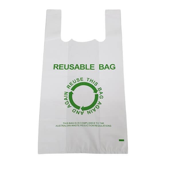 Singlet Bag White Printed 37um - Reusable image