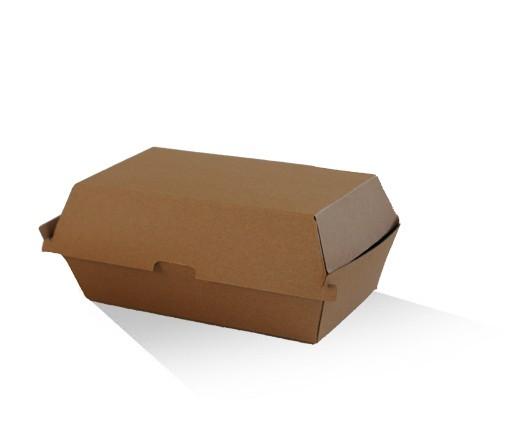 Snack Box - Brown corrugated cardboard image