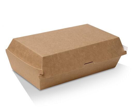 Snack Box Clam - Kraft cardboard image
