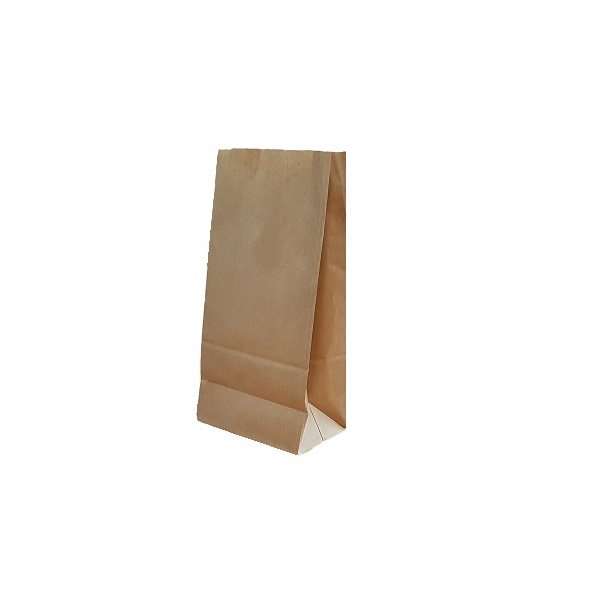 SOS Block Bottom Brown Paper Bag image