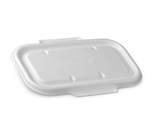 Sugarcane takeaway container lid image