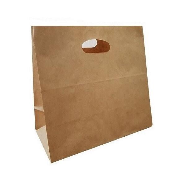 Takeaway Brown Paper Bag - Die Cut Handle image