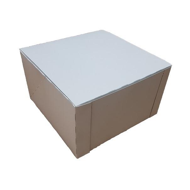 White pop up cake box image