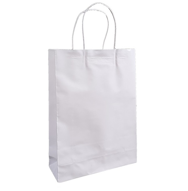 White Paper Bag Twist Handle image