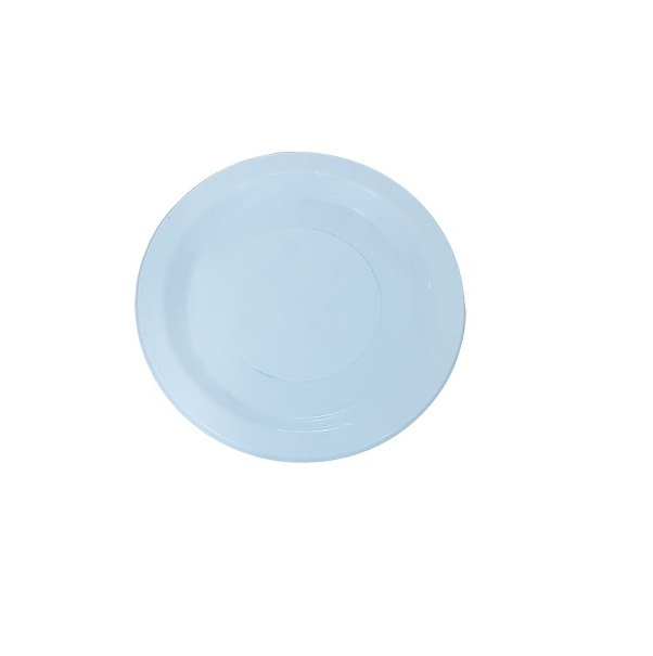 White round plastic plate image