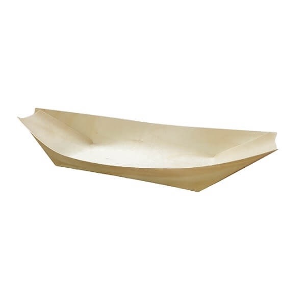 Wooden pine boat image