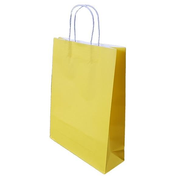 Yellow Paper Bag Twist Handle image